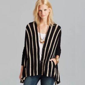 FREE PEOPLE Circle Back Stripe Cardigan Sweater